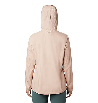 Women's EvaPOURation™ Jacket EvaPOURation™ Jacket | 539 | XL, Peach Cloud, Cirrus Grey Zip, back