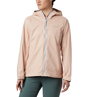 Women's EvaPOURation™ Jacket EvaPOURation™ Jacket | 539 | XL, Peach Cloud, Cirrus Grey Zip, front