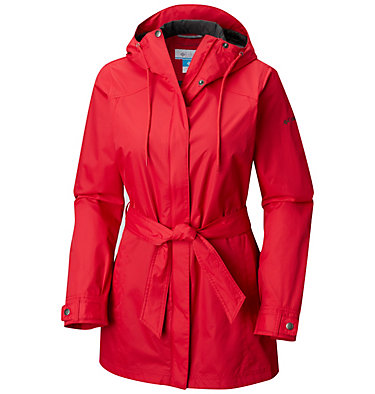 Women's Pardon My Trench™ Rain Jacket Pardon My Trench™ Rain Jacket | 641 | L, Red Mercury, front