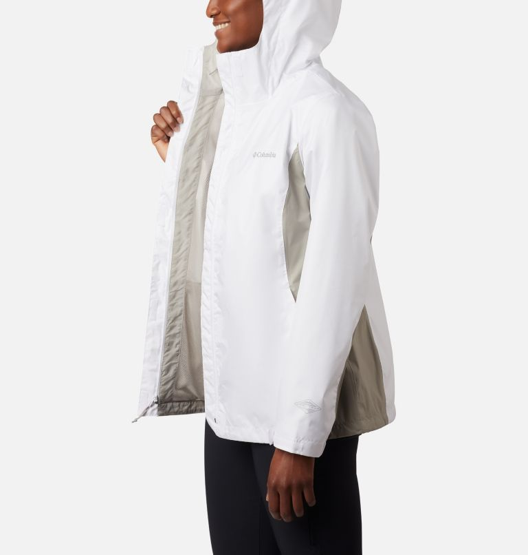 Arcadia™ II Jacket | 101 | L Women's Arcadia™ II Rain Jacket, White, Flint Grey, a1
