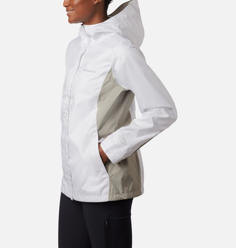 Arcadia™ II Jacket | 101 | L Women's Arcadia™ II Rain Jacket, White, Flint Grey, a2