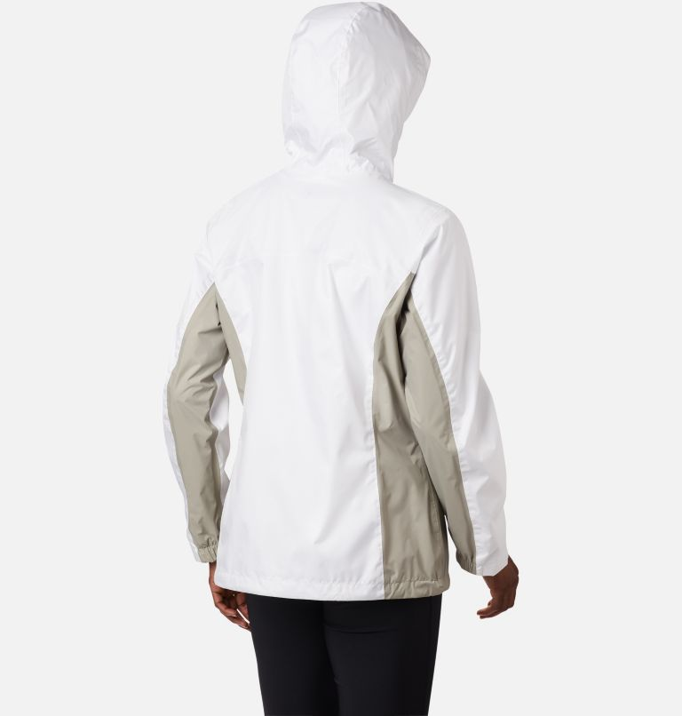 Arcadia™ II Jacket | 101 | L Women's Arcadia™ II Rain Jacket, White, Flint Grey, back