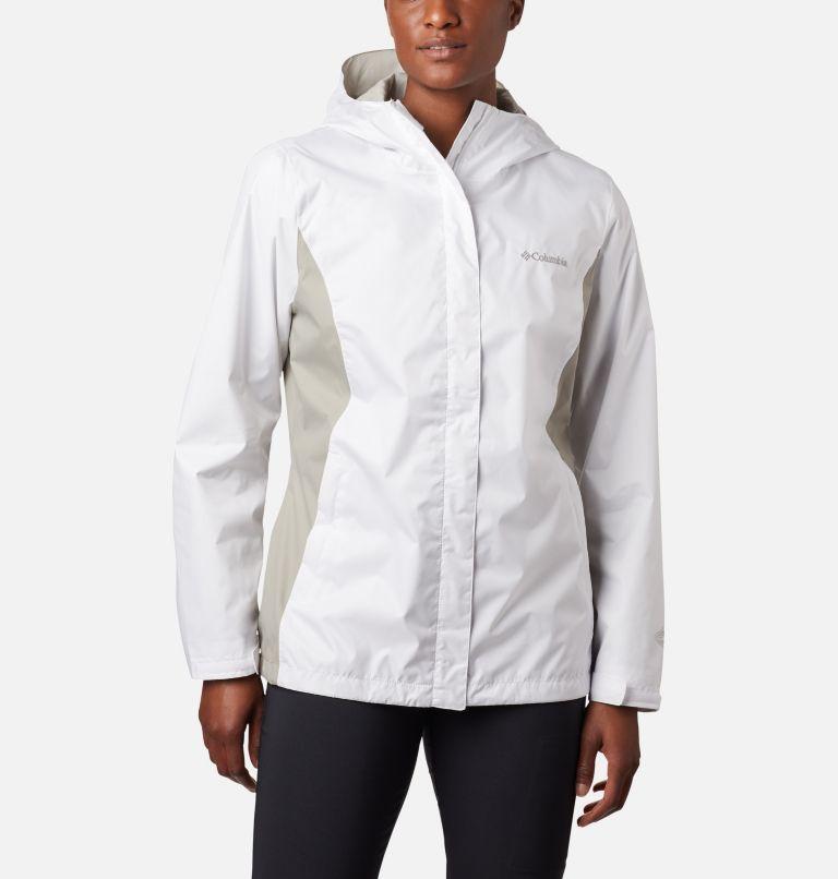 Arcadia™ II Jacket | 101 | L Women's Arcadia™ II Rain Jacket, White, Flint Grey, front