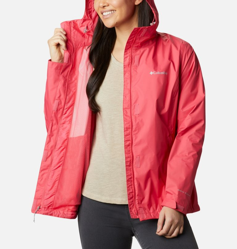 Arcadia™ II Jacket | 674 | XS Women's Arcadia™ II Rain Jacket, Bright Geranium, a3