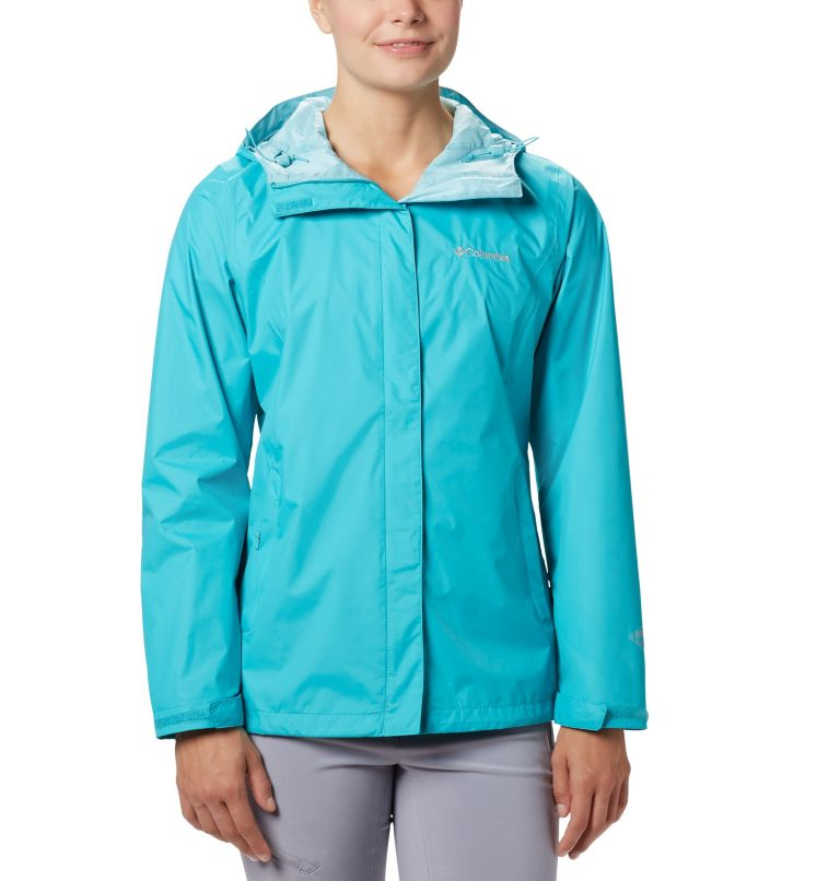 Arcadia™ II Jacket | 735 | L Women's Arcadia™ II Rain Jacket, Geyser, front