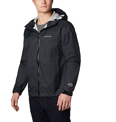 Men's EvaPOURation™ Omni-Tech™ Jacket EvaPOURation™ Jacket | 820 | XL, Black, front
