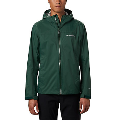 Men's EvaPOURation™ Omni-Tech™ Jacket EvaPOURation™ Jacket | 820 | XL, Rain Forest, front