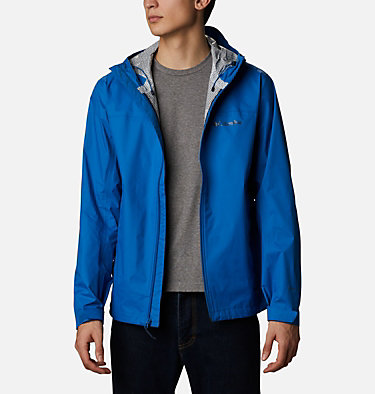 Men's EvaPOURation™ Omni-Tech™ Jacket EvaPOURation™ Jacket | 820 | XL, Bright Indigo, front