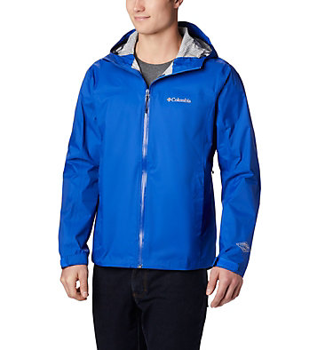 Men's EvaPOURation™ Omni-Tech™ Jacket EvaPOURation™ Jacket | 820 | XL, Azul, front