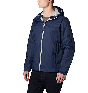 Men's EvaPOURation™ Omni-Tech™ Jacket EvaPOURation™ Jacket | 820 | XL, Collegiate Navy, front