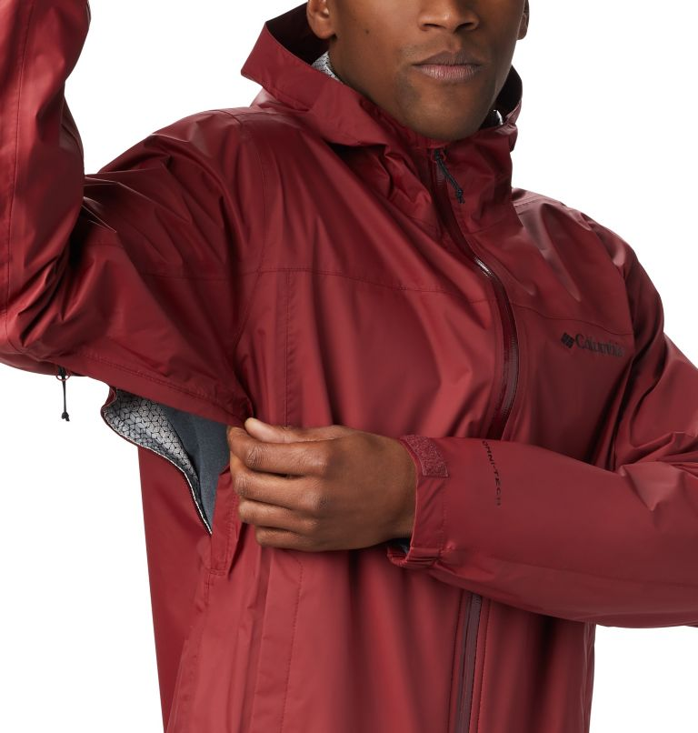 EvaPOURation™ Jacket | 664 | S Men's EvaPOURation™ Omni-Tech™ Jacket, Red Jasper, a1