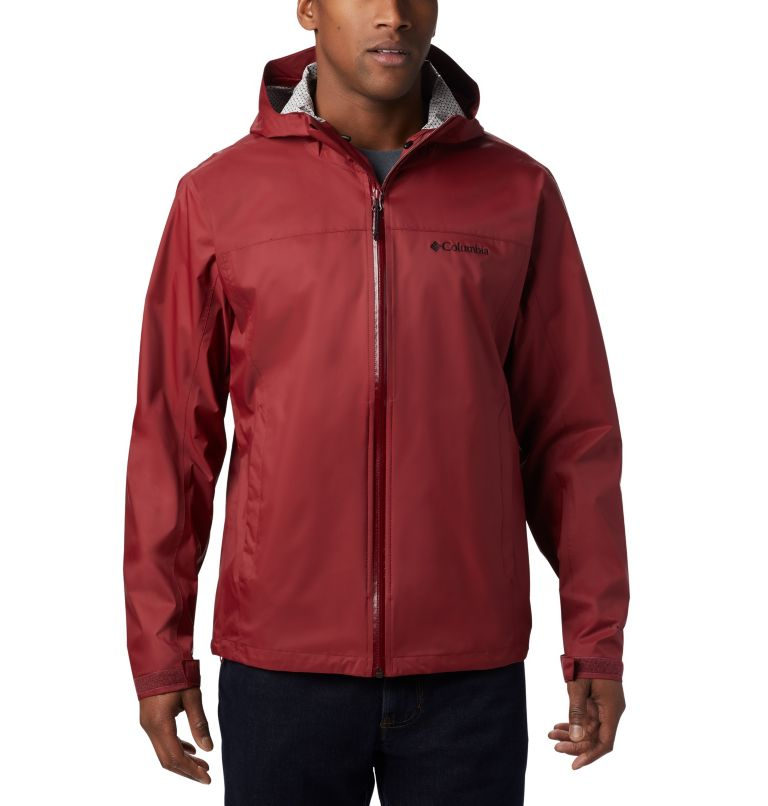 EvaPOURation™ Jacket | 664 | S Men's EvaPOURation™ Omni-Tech™ Jacket, Red Jasper, front