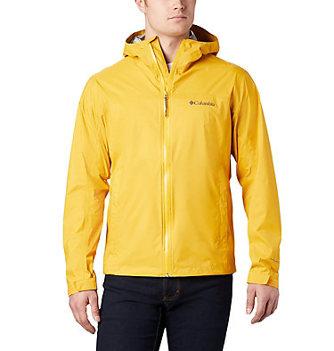 Men's EvaPOURation™ Omni-Tech™ Jacket EvaPOURation™ Jacket | 820 | XL, Bright Gold, front