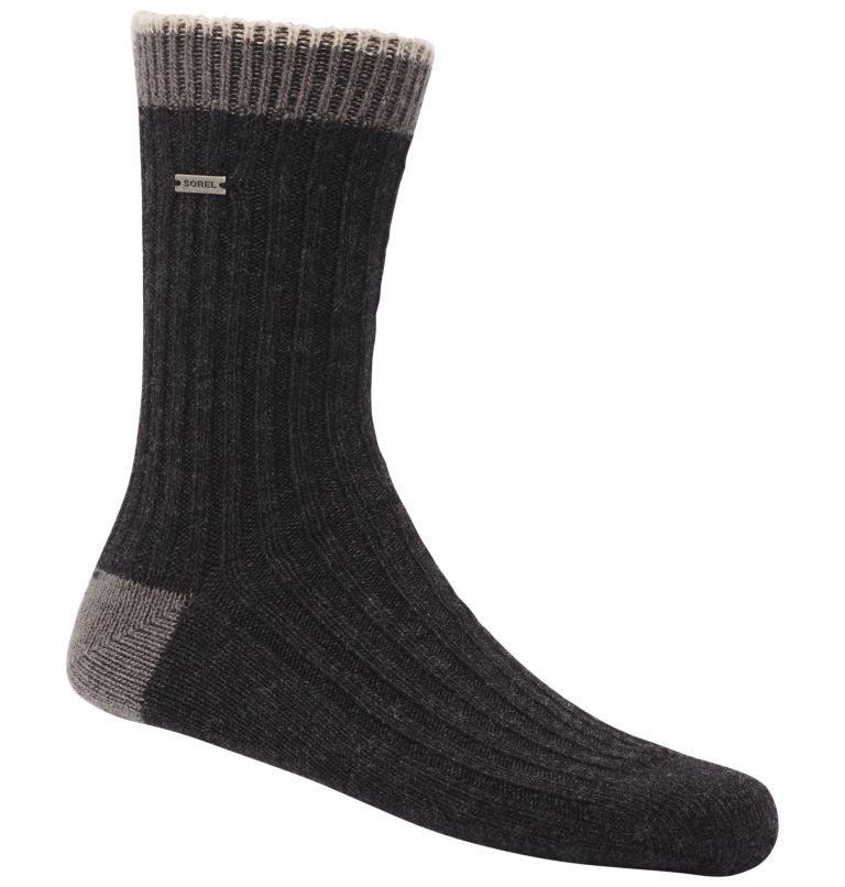 WOMEN'S WOOL ESSENTIAL CREW   010   O/S Women's Merino Basic Crew Sock, Black