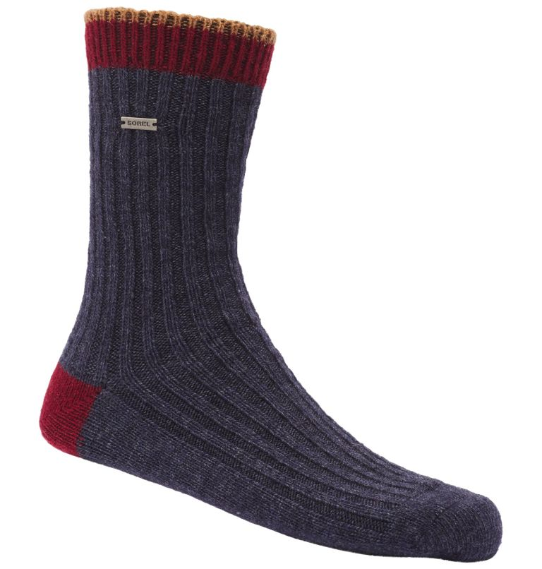 WOMEN'S WOOL ESSENTIAL CREW | 464 | O/S Women's Merino Basic Crew Sock, Navy