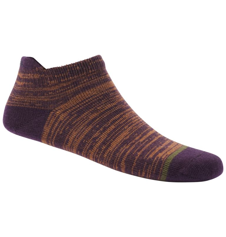 WOMEN'S SUPER SOFT WOOL NO SHOW | 520 | O/S Women's Super Soft Wool Spaced Socks, Dark Plum