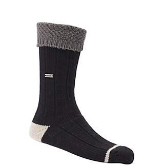 Women's Wool Texture Turn Over Cuff Crew Socks