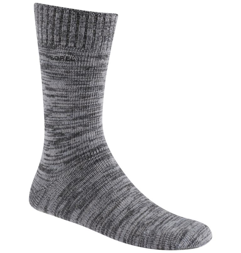 Men's Spacedye Wool Crew | 030 | O/S Men's Spacedye Wool Crew Socks, Charcoal, front