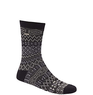 Women's Cotton Jacquard Pattern Crew Socks