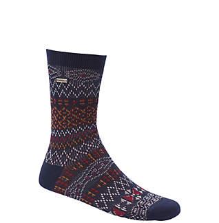 Women's Cotton Jacquard Pattern Crew Socks