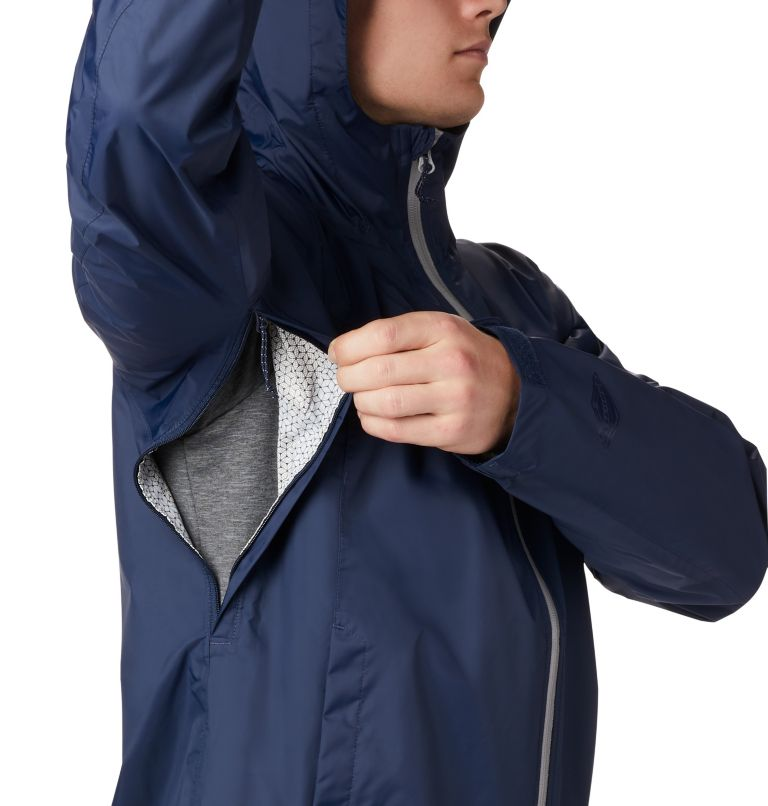 EvaPOURation™ Jacket | 465 | 4XT Men's EvaPOURation™ Omni-Tech™ Jacket - Tall, Collegiate Navy, a2