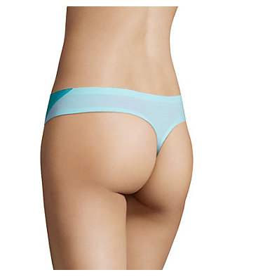 Women's Bonded Micro Thong Women's Bonded Micro Thong, Bluebird, back