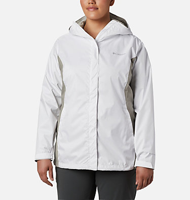 Women's Arcadia™ II Jacket - Plus Size Arcadia™ II Jacket | 584 | 1X, White, Flint Grey, front