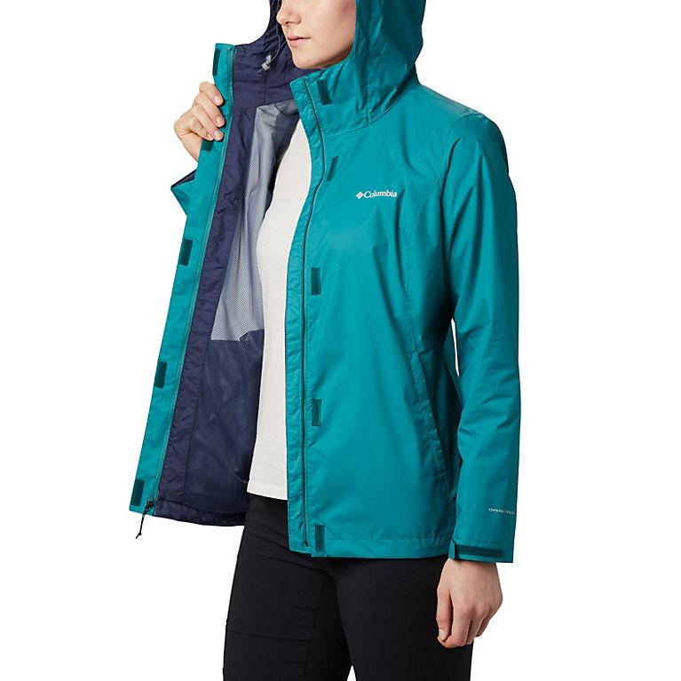 Ladies Plus Size 10-28 Pool Blue Light Coat Hooded Versatile Jacket Womens