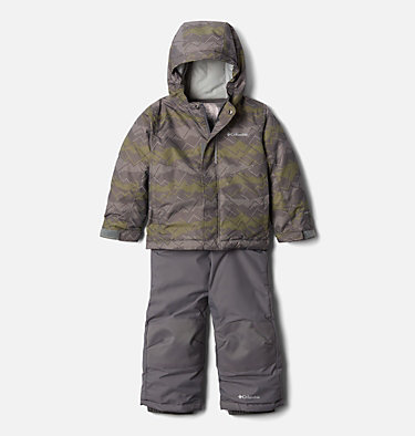 Ensemble Buga™ Enfant Buga™ Set | 434 | 3T, City Grey Dot Scape Print, Columbia Grey, front