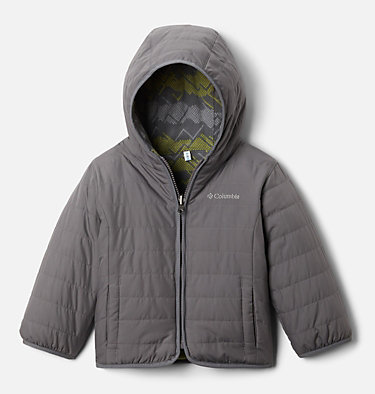 Toddler Double Trouble™ Reversible Jacket Double Trouble™ Jacket | 575 | 2T, City Grey, front