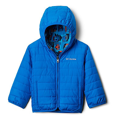 Toddler Double Trouble™ Reversible Jacket Double Trouble™ Jacket | 575 | 2T, Super Blue, Super Blue Critter Block, front