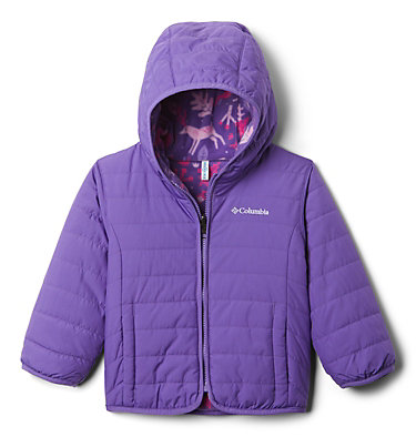 Toddler Double Trouble™ Reversible Jacket Double Trouble™ Jacket | 575 | 2T, Grape Gum, Grape Gum Reindeer, back
