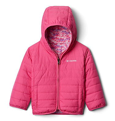 Toddler Double Trouble™ Reversible Jacket Double Trouble™ Jacket | 575 | 2T, Pink Ice, Pink Ice Trees, front