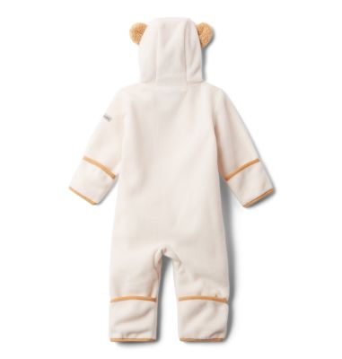 Warm 12//18 Columbia Infant Tiny Bear II Bunting Plum Soft Fleece