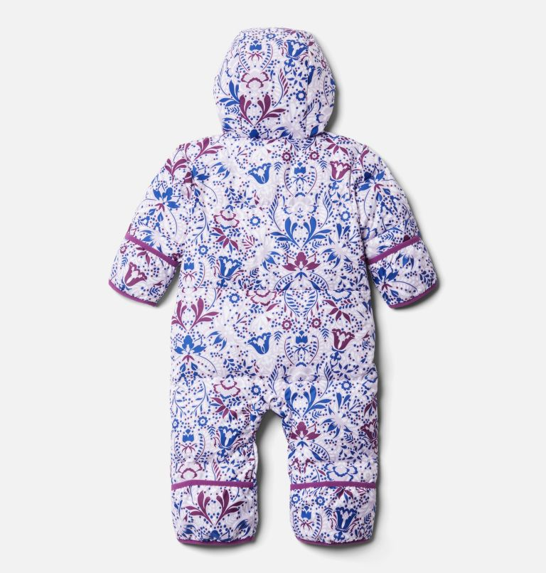 Snuggly Bunny™ Bunting | 584 | 12/18 Infant Snuggly Bunny™ Bunting, Pale Lilac Blooming Dot Print, back