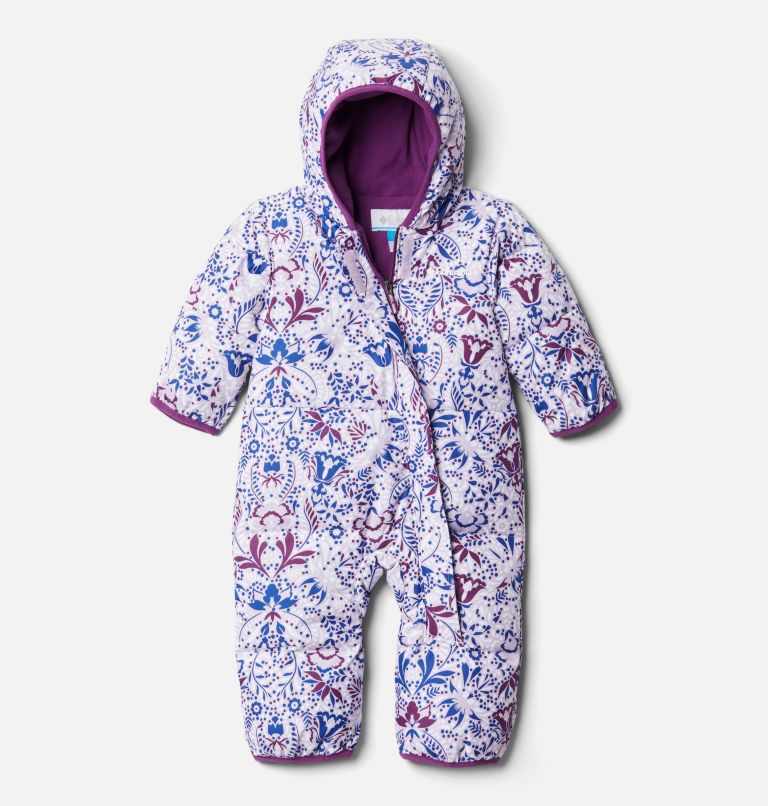 Snuggly Bunny™ Bunting | 584 | 12/18 Infant Snuggly Bunny™ Bunting, Pale Lilac Blooming Dot Print, front