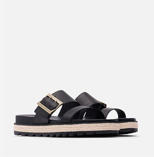 A pair of SOREL Roaming Buckle Jute sandals