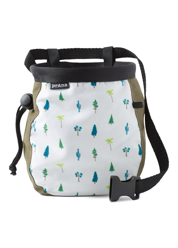 Graphic Chalk Bag with Belt Graphic Chalk Bag with Belt, Cargo Green Trees