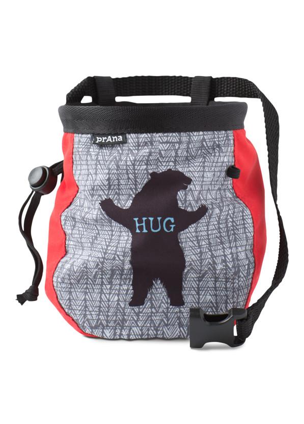 Graphic Chalk Bag with Belt Graphic Chalk Bag with Belt, Charcoal Bear Hug