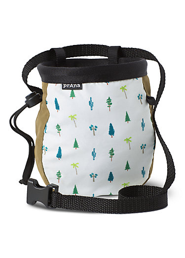 Graphic Chalk Bag with Belt Graphic Chalk Bag with Belt, Woodland Green Trees