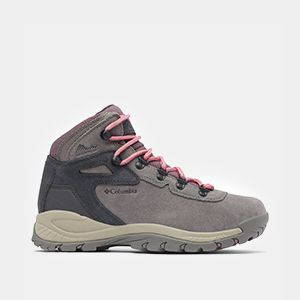 A gray womens mid-high hiker.