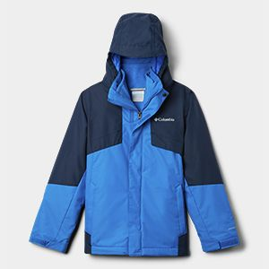 A blue insulated jacket.