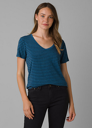 Foundation Short Sleeve V-neck Foundation Short Sleeve V-neck, Admiral Heather Stripe