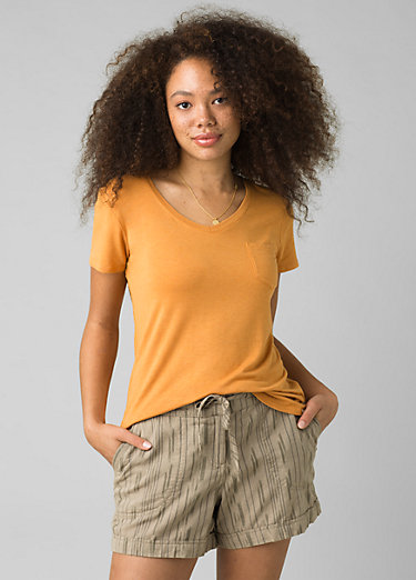 Foundation Short Sleeve V-neck Foundation Short Sleeve V-neck, Butterscotch Heather