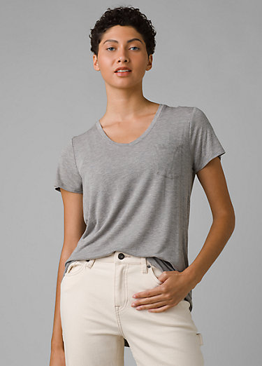 Foundation Short Sleeve V-neck Foundation Short Sleeve V-neck, Heather Grey
