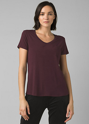 Foundation Short Sleeve V-neck Foundation Short Sleeve V-neck, Raisin Heather