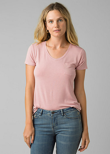 Foundation Short Sleeve V-neck Foundation Short Sleeve V-neck, Rosette Heather