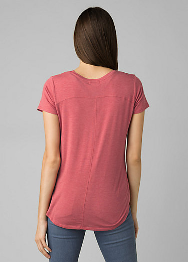 Foundation Short Sleeve V-neck Foundation Short Sleeve V-neck, Rouge Heather