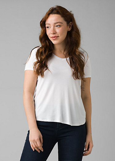 Foundation Short Sleeve V-neck Foundation Short Sleeve V-neck, White