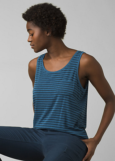 Foundation Scoop Neck Tank Foundation Scoop Neck Tank, Admiral Heather Stripe
